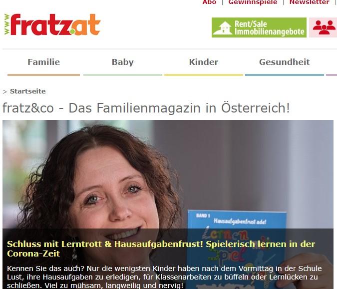 """Beitrag Im österreichischen Familienmagazin """"Fratz&Co"""": So Gelingt Spielerisches Lernen"""